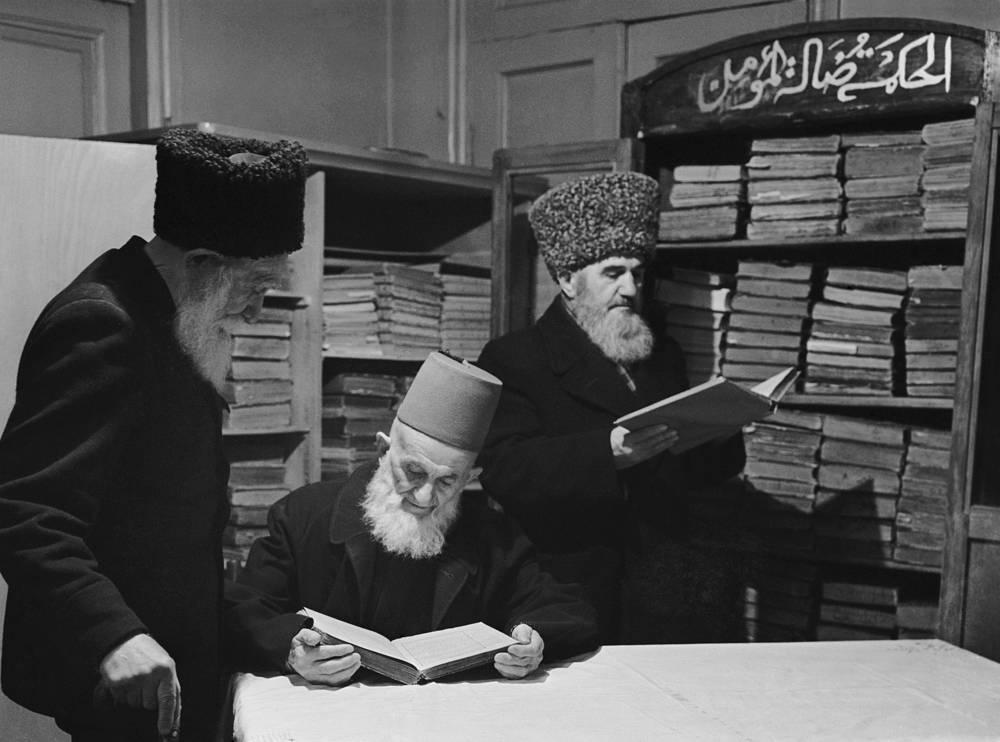 Дагестан. Буйнакск. В библиотеке при Духовном управлении мусульман Северного Кавказа и Дагестана, 1968 год