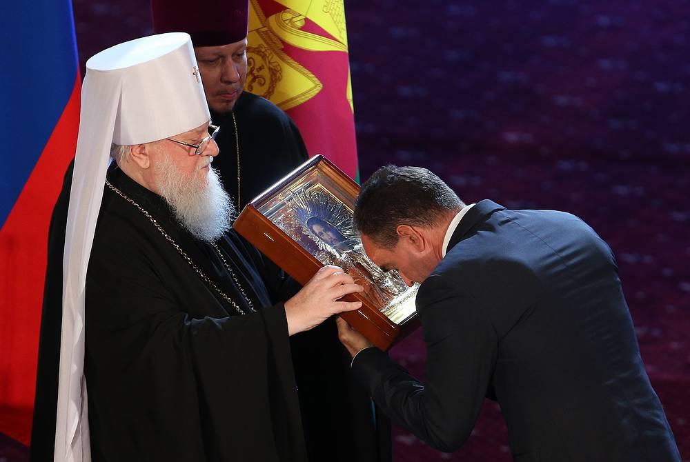 Митрополит Исидор и избранный губернатор Краснодарского края Вениамин Кондратьев