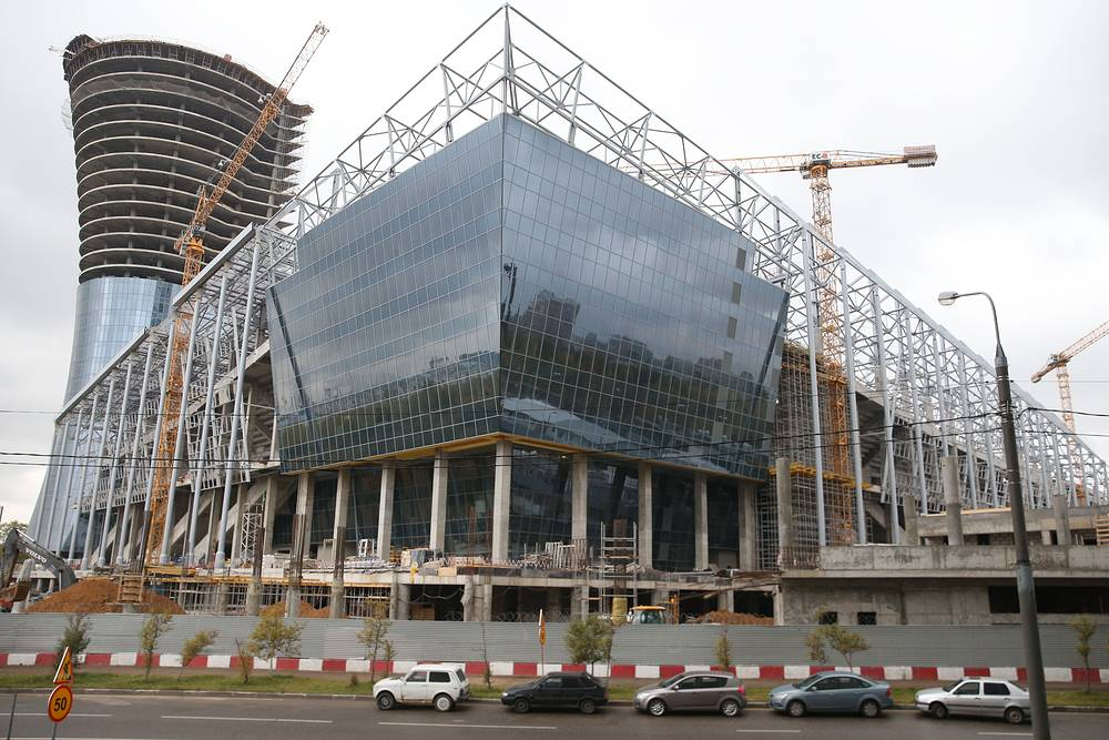 Строительство стадиона ЦСКА на на 3-й Песчаной улице