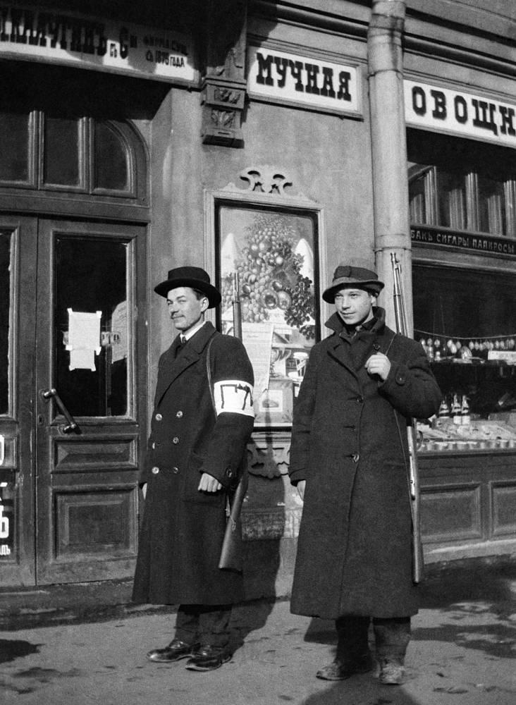 Городская милиция в Петрограде, 1917 год