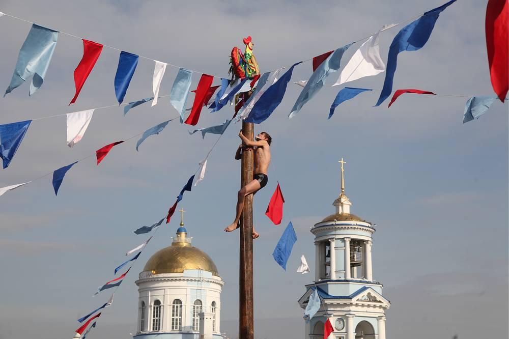 Празднование Масленицы в Воронеже