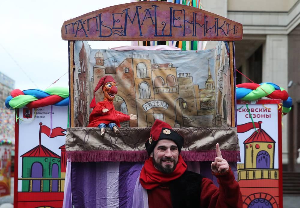 Выступления кукольного театра – неотъемлемая часть праздничных гуляний