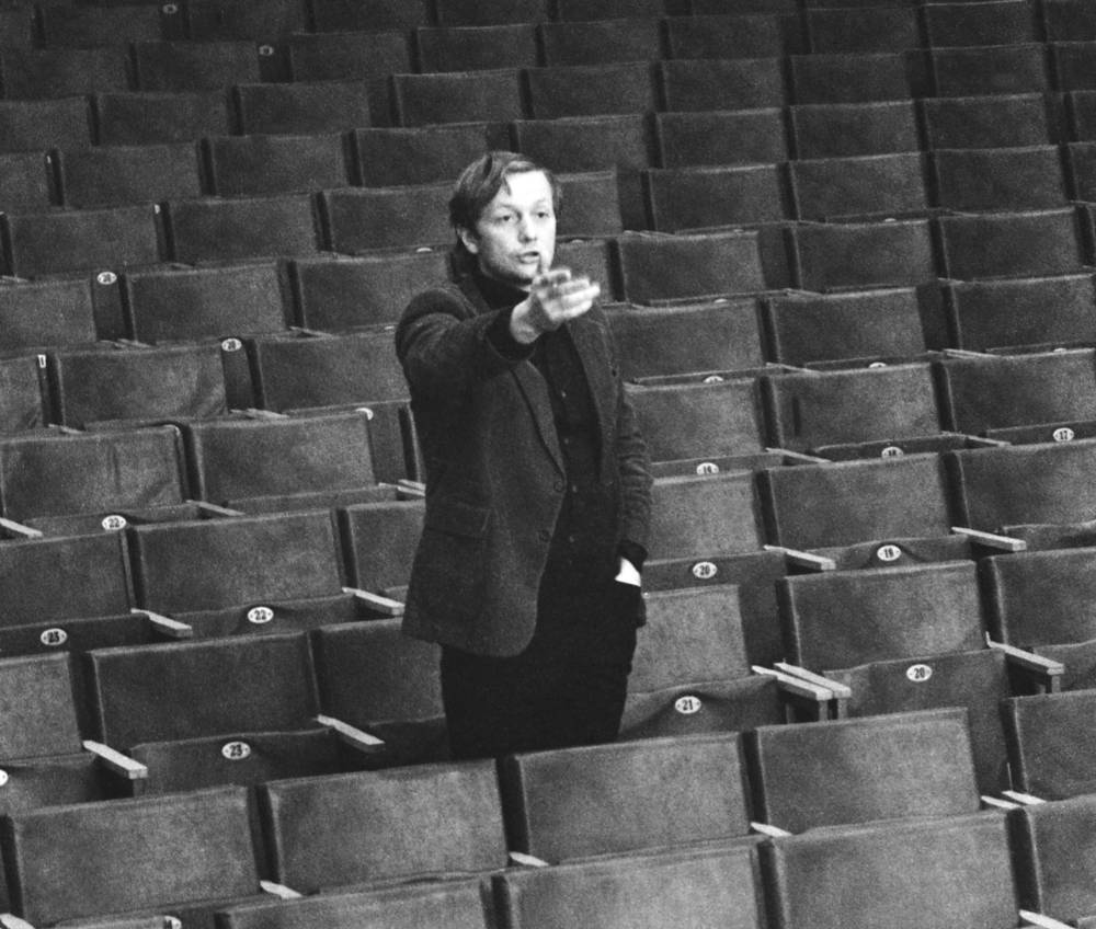 "Михаил Задорнов на репетиции театра МАИ ""Россия"", 1980 год"