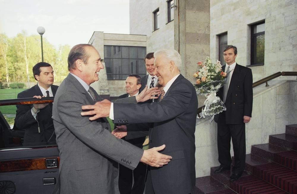 С президентом России Борисом Ельциным в Москве, 1997 год