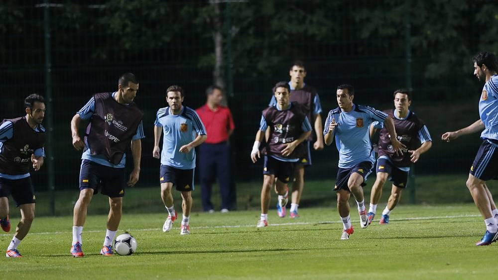 Тренировка сборной Испании