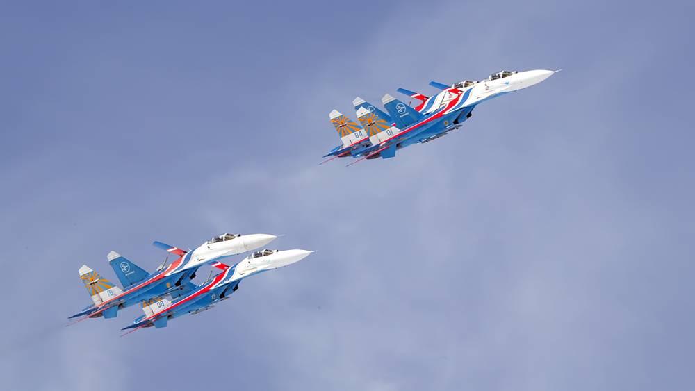 """АГВП """"Русские витязи"""" на самолетах Су-27"""