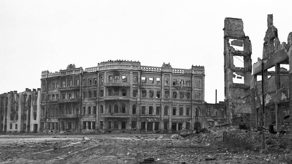 Сталинград. Разрушенные дома