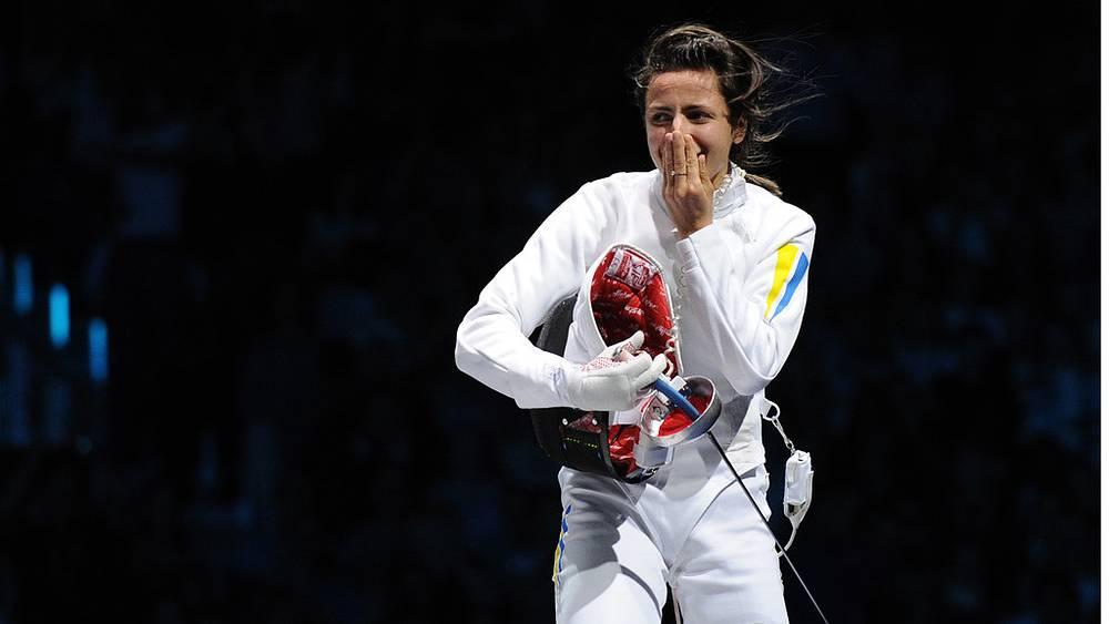 Украинская спортсменка Яна Шемякина, занявшая первое место в индивидуальных соревнованиях