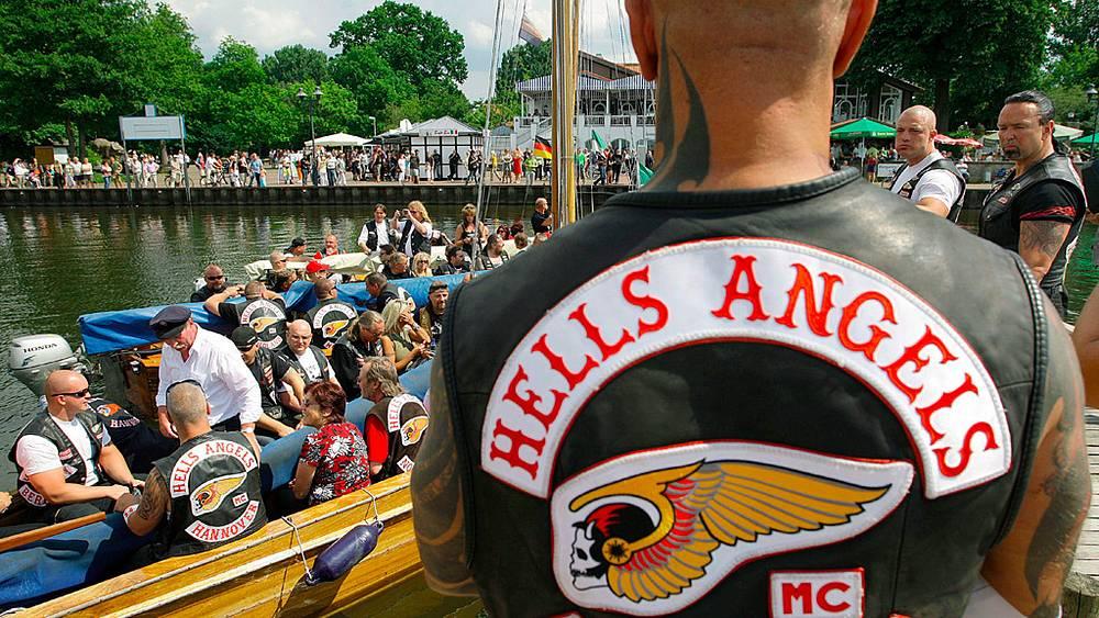 Пикник Hells Angels на острове Вильгельмштейн, Германия