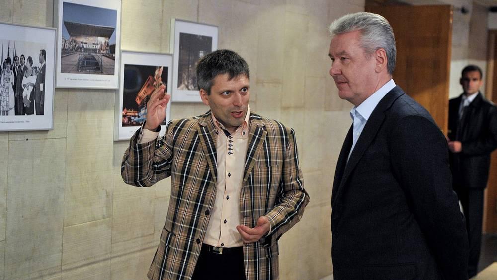 Генеральный директор продюсерской компании Дмитрий Богачев и мэр Москвы Сергей Собянин