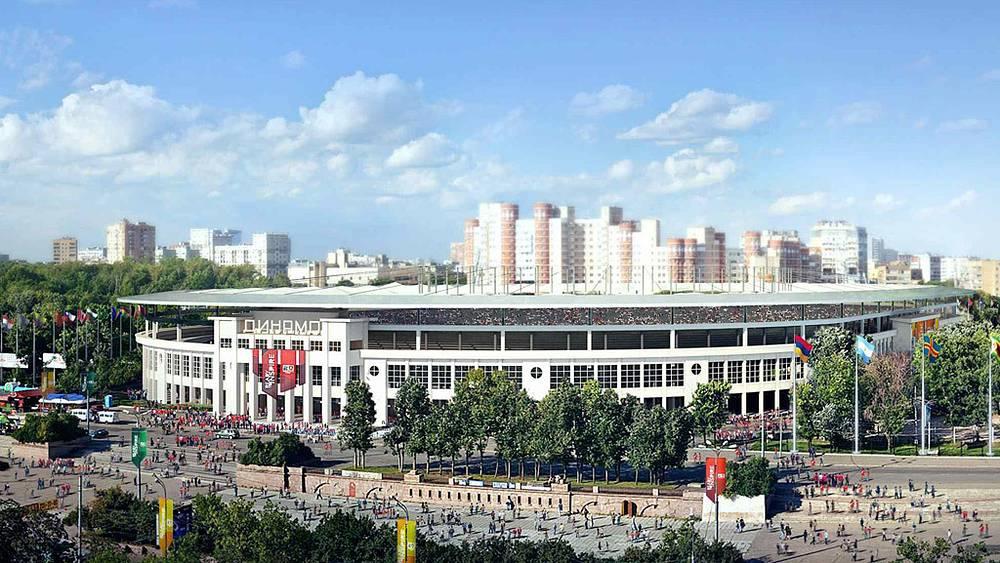 "Макет стадиона ""Динамо"" в Москве"