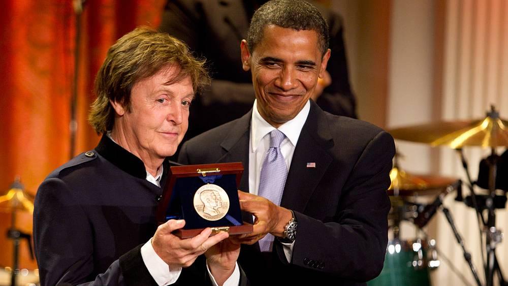 Обама вручил Полу Маккартни премию имени Джорджа Гершвина, 2010 год