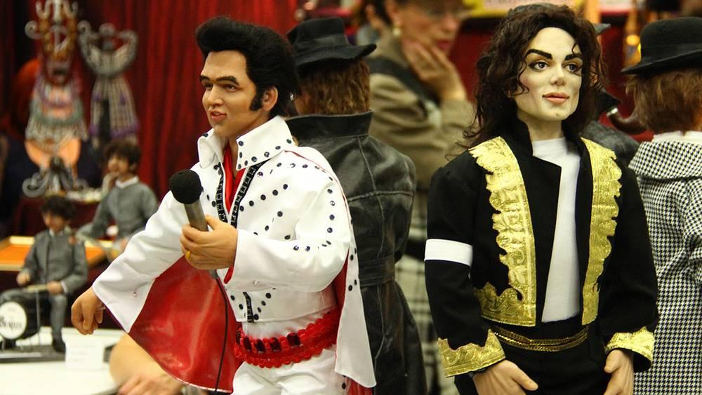 Куклы Элвиса Пресли и Майкла Джексона