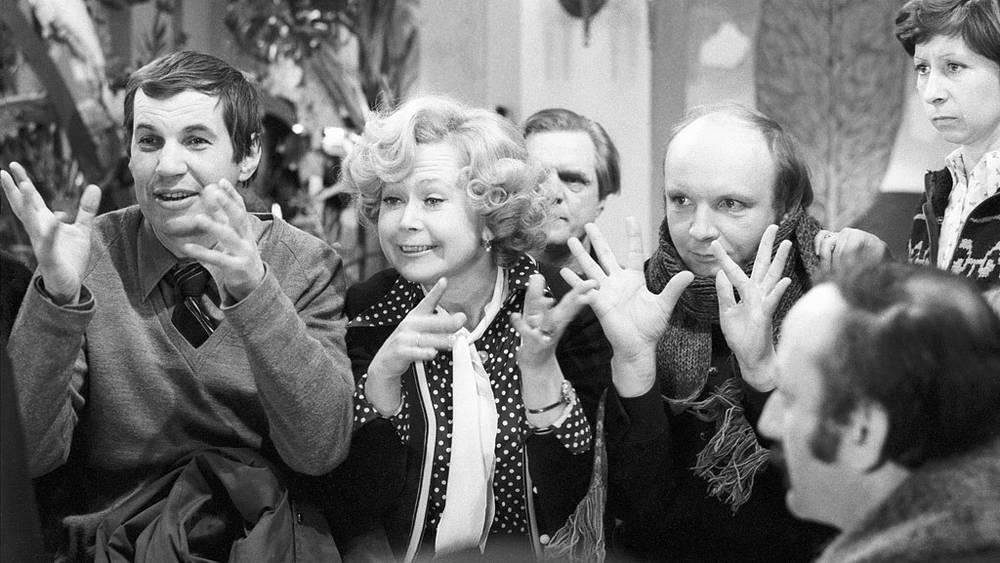 "На съемках фильма ""Гараж"". 1979 год"
