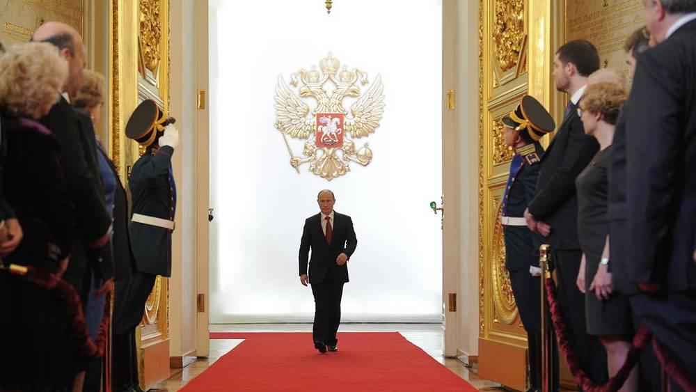 Избранный президент России Владимир Путин на церемонии инаугурации