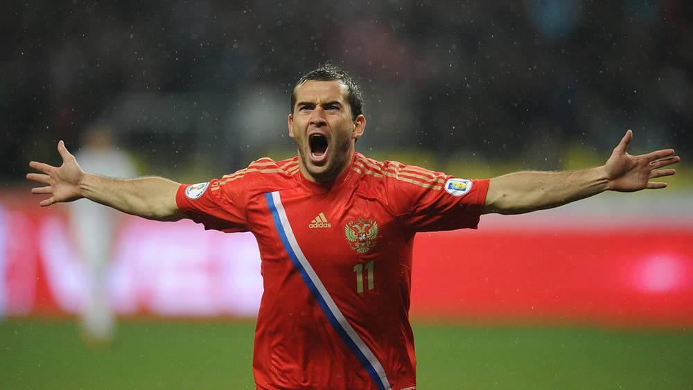 Игрок сборной России Александр Кержаков