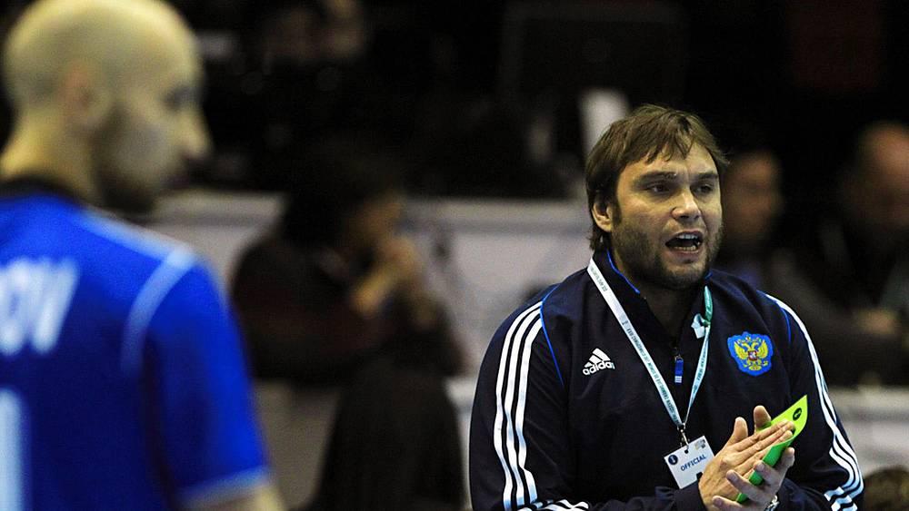 Главный тренер российской команды Олег Кулешов