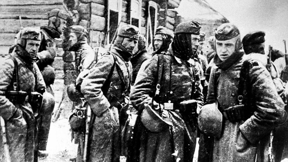 Немецкие солдаты под Москвой, 1941 год