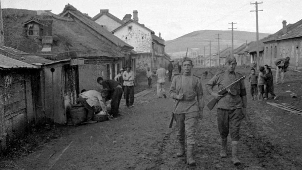 Патруль, Харбин. 1945. Фото ИТАР-ТАСС