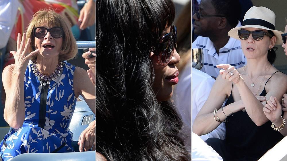 Главред американского журнала Vogue Анна Винтур; супермодель Наоми Кэмпбелл. актриса Джулиана Маргулис. Фото EPA/JUSTIN LANE, ANDREW GOMBERT