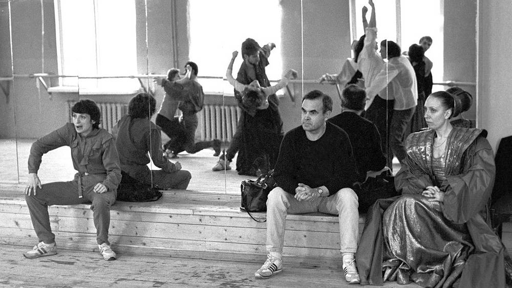 """Репетиция спектакля """"Гамлет"""", 1986 год. Фото ИТАР-ТАСС/Анатолий Морковкин"""