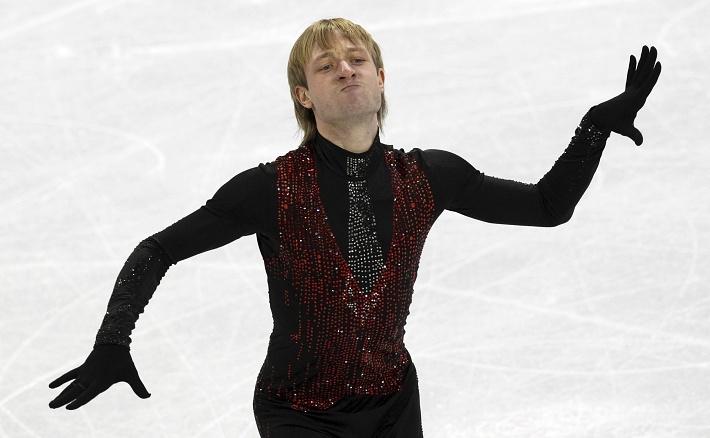 Евгений Плющенко на Олимпиаде в Ванкувере, где он завоевал свою вторую серебряную медаль. EPA/ANATOLY MALTSEV
