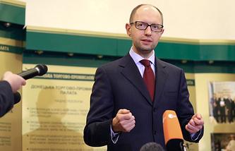 Parliament-appointed Prime Minister Arseniy Yatsenyuk