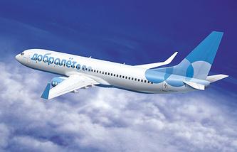 """Проект самолета """"Добролет"""" с новым логотипом на борту от авиакомпании """"Аэрофлот"""". 2013 год"""