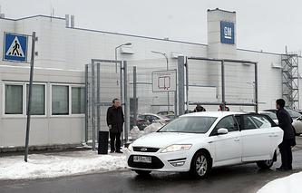 Вид на завод General Motors в Санкт-Петербурге