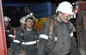 """Шахтеры шахты """"Северная"""", принадлежащей АО """"Воркутауголь"""""""