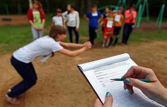 Сдача норм ГТО школьниками