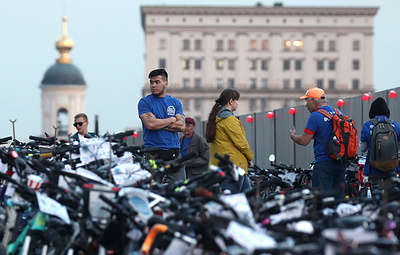World record set in Moscow at cycling festival
