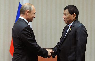 Путин: у Москвы и Манилы есть много перспективных направлений сотрудничества