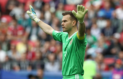 Акинфеев - лучший вратарь группового этапа Кубка конфедераций по проценту отбитых ударов