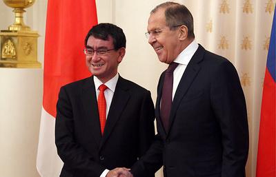 Пресс-конференция глав МИД РФ и Японии. Видеотрансляция