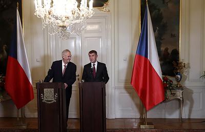 Бабиш рекомендовал Земану заявить о приверженности евроатлантической ориентации Чехии