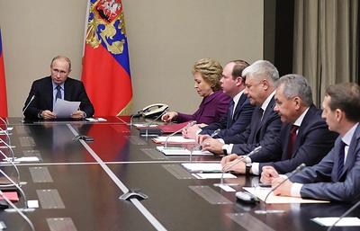 Путин обсудил с Совбезом последствия принятия на Украине закона о реинтеграции Донбасса