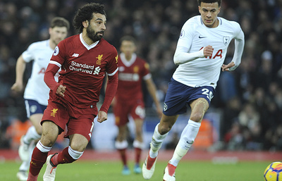 «Ливерпуль» сыграл вничью с «Тоттенхэмом» в матче чемпионата Англии по футболу