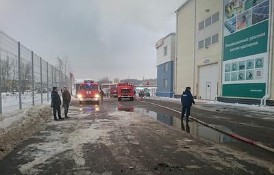 В Химках загорелось офисное здание