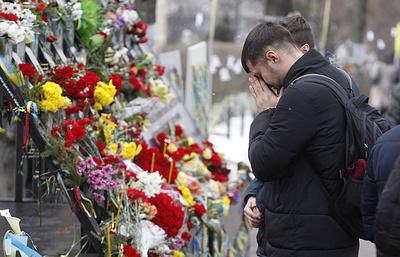 Гройсмана и Парубия освистали во время возложения цветов к памятнику погибших на «майдане»