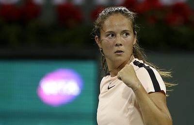 Касаткина обыграла Кербер и вышла в полуфинал турнира WTA в Индиан-Уэллсе