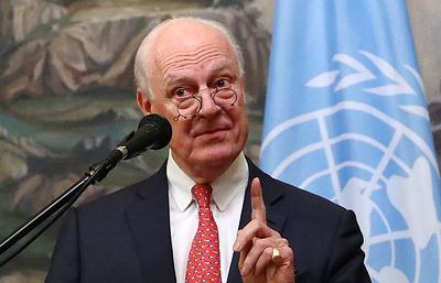 Де Мистура: в Сирии необходима не только военная, но и политическая деэскалация