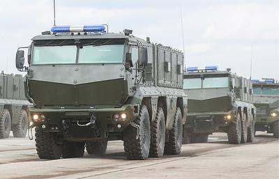 В Москву прибыла участвующая в параде Победы военная техника