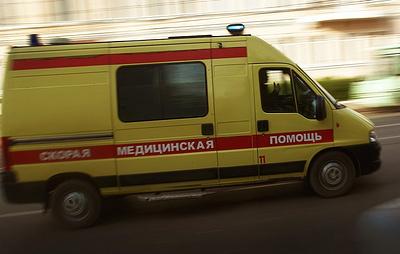 Такси въехало в толпу людей в центре Москвы
