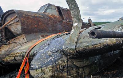 Военные и поисковики нашли под Смоленском штурмовик Ил-2 с останками экипажа