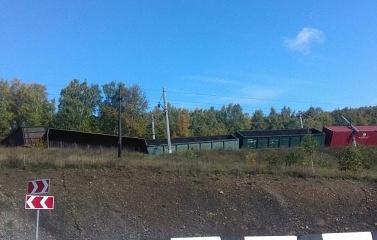 В Иркутской области сошли с рельсов 10 грузовых вагоновПостардавших не