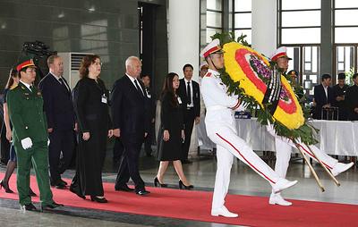 Делегация РФ приняла участие в церемонии прощания со скончавшимся президентом Вьетнама