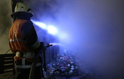 Пожар на складе с бумагой в Петербурге полностью ликвидирован
