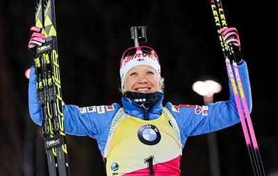 Биатлонистка Мякяряйнен завоевала золото в спринте на этапе Кубка мира в Словении