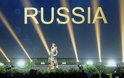 """Участницы конкурса """"Мисс Вселенная"""" показали свои национальные костюмы"""